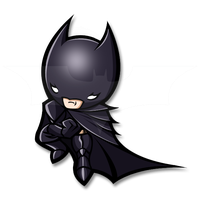 tiny dark knight by blackxprince