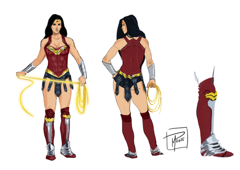 A Wonder Woman costume redesign by jadenwithwings