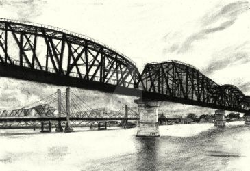 Five Bridges over the Ohio by ermiller1415