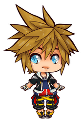 .: Chibi Sora :. by Nocturnally-Blessed