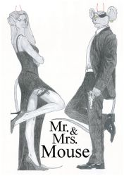 bmfm: Mr and Mrs Mouse by AbbyBlack