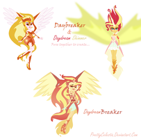 Daybreaker and Daydream Shimmer Fusion by PrettyCelestia