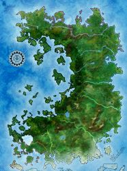 Nydele World map by Shadom86