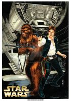 Chewbacca and Han Solo by Thegerjoos