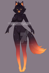 [1/2] Sunset Wolf Adopt [CLOSED] by ubebot