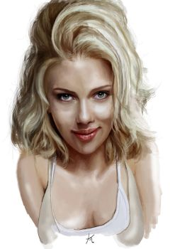Scarlett Johansson Painting by KyleArmstrong