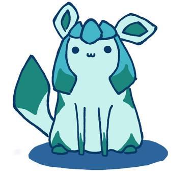 Glaceon doodle by Sammi-The-FF-Freak