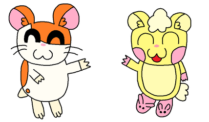 Request: Hamtaro meets Cuddles by SuperAwesomeHamtaro