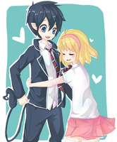 Rin and Shiemi by pawnawn