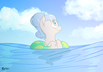 Relaxing In The Ocean by FluffyXai