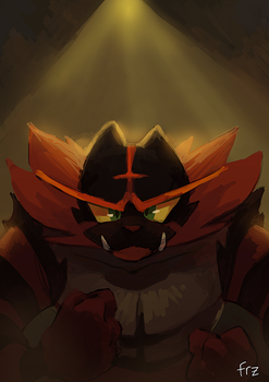 Incineroar by Frozenspots