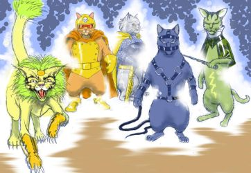 TLIID Super-heroes as Cats - The Female Furies by Nick-Perks