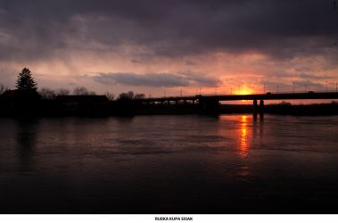 Sunset  the River Kupa by siscanin