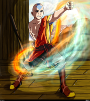 'A' for Aang by Mookyloo-Old