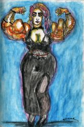 Curvy Gothic Girl by Spoonk