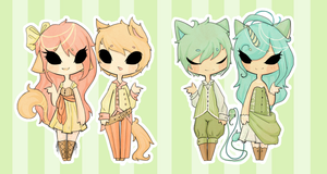 Kemonomimi Couples [Closed] by InsignificantYeti