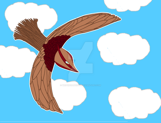 Bird flying thing by WritingArtist14