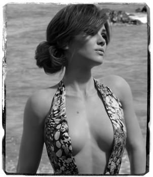 Bonnie by the sea (Black and White) by Chase81