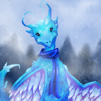 art trade: kasumi the mist dragon by wizard11