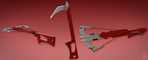 Eric Marma's Hook Swords/Crossbow (RWBY OC weapon) by JackBryanReynard