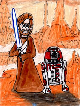 Obi-Wan Kenobi and R4-P17 by SonicClone