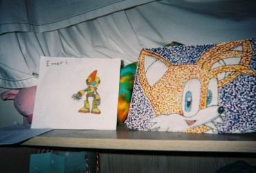 Tails And Emerl Drawing by BluethornWolf