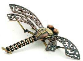 steampunk dragonfly by Lostwaxoz
