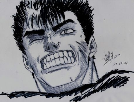 Guts the Black Swordsman by Gonzague38