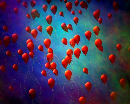 99 Red Balloons by rabbitica