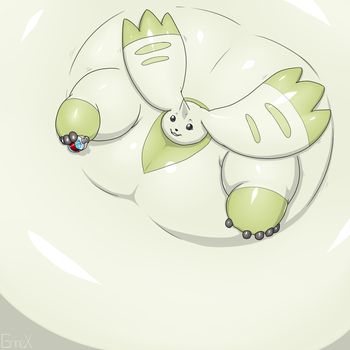Massive Blimping Terriermon by RickyDemont