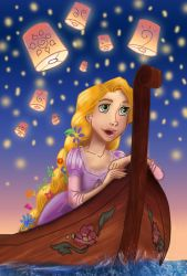 Rapunzel with Lights by elvenlass