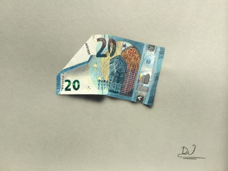 20 Euro Banknote painting by SciFiConceptArt