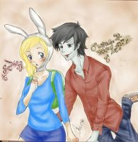Adventure Time: Fionna and Marshall Lee by Angels-Leaf