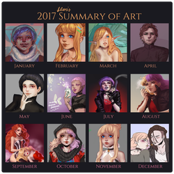 2017 Summary of Art by Lilami