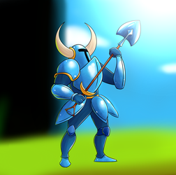 Shovel knight fan art by Busterkrispo