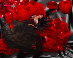 Red Roses Girl by Sinphie