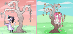 November Time Trees by CylaDavenport