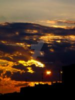 Sunset over the city II by Bozzenheim