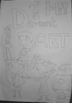 Phineas and Ferb, Hi Deviant ART by XxCakiexX