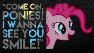 Pinkie Pie Charcoal Textured Wallpaper by Chadbeats