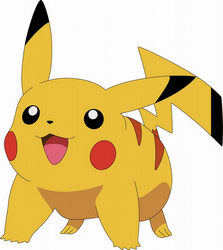 Pikachu with Black Tail Tip by darren9999