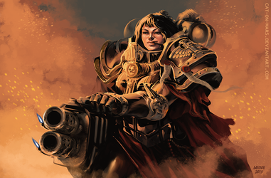 Rapid Fire (WH40K) by cat-on-mars