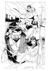 Superman,Batman, and Soulfire by SURFACEART