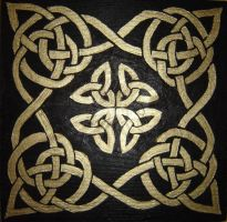 The Endless Knot: black n gold by Guenieviere