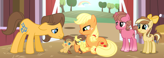 MLP Next Gen New apples in our family by VelveagicSentryYT
