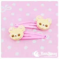 Cookie bears hairclip by CuteMoonbunny