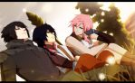 Noctis Lightning and Tide by annria2002