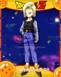DBZ Android 18 V2 by Metamine10