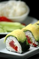 Tuna Red Pepper Roll 1 by bittykate