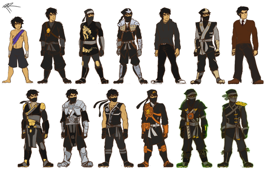 Ninjago: Cole's Costumes by RRproAni